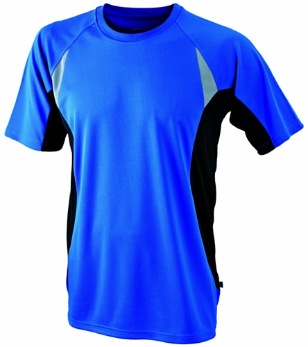 James & Nicholson Herren kurze Ärmel T-Shirt Running T blau (royal/black) Medium (Ärmel Running T-shirt)