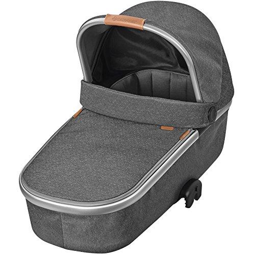 Bébé Confort ORIA 'Sparkling Grey' - Capazo con capota protectora, color gris oscuro