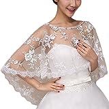 Sonnenschein Braut Brautkleid Schal Rote Spitze Hedging Capes Sommer Braut Tüll Bolero Kurz Vorderseite Rückseite Lange-Weiß