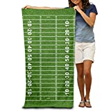 show best American Football Field 100% Polyester Beach Towel Chair Thick Soft Quick Dry Lightweight Towels Blanket 31 X 51 inch