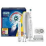 Oral-B Pro SmartSeries 6500 elektrische Zahnbürste, mit Timer und vier Aufsteckbürsten, Bonus Pack mit 2 Handstücken, weiß