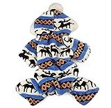 Tongshi Mascota perro cachorro ropa de abrigo Mono capa con capucha ropa de perrito (M, Azul)