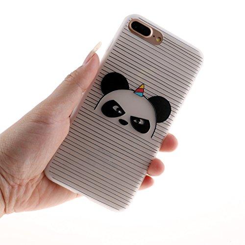 Etui Coque TPU Slim Bumper pour iPhone 6 Plus / 6s Plus,Coffeetreehouse Neuf Design Beautiful Elegant Vintage Motif Premium Souple Housse de Protection Flexible Soft Case Cas Couverture Anti Choc Minc panda