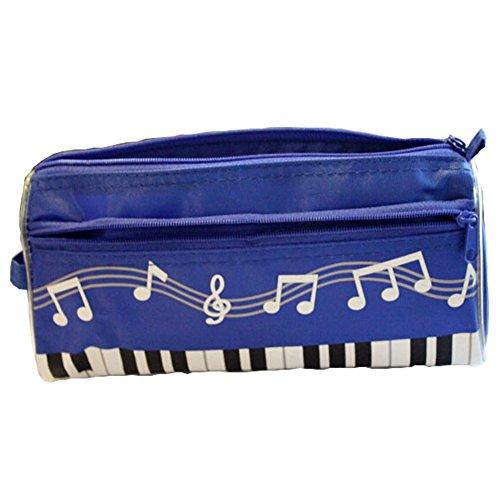 Bleu Musique Thème sacs Cosmetic Pen Crayon sac Case