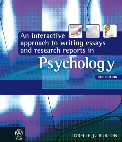 interactive approach to writing essays & research reports in psychology