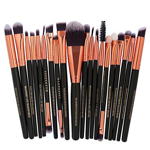 ESAILQ 20 Pcs Kit de Pinceau de Maquillage Cosmétique Professionnel Ensembles Outils Pinceau Poudre Fond de teint Makeup Brushes (E)