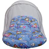 Babilav Baby Bedding Set/Toddler Mattress With Mosquito Net, Medium(0-24 Months) (Blue, 0-12 Month)
