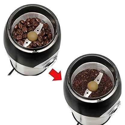 PowerDoF-KWG-150-Elektrische-Kaffeemhle-kleine-kompakte-einfache-Touch-automatische-Schleifwerkzeug-fr-Kaffeebohnen-Nsse-und-Gewrz