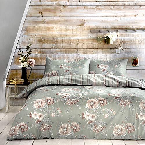 Dreams & Drapes Thornbury Parure de lit 52% Polyester, 48% Coton, Green, Double