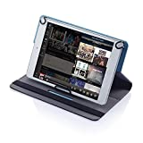Crazygadget® 10 Inch Polyester Solid Universal Tablet Case Cover Stand for 10' Tablet PC mid Android Devices Strong Grip Safety Wallet Holder with Lock Belt