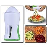 spiralizzatore per verdure, Zucchini spaghetti pasta noodle Maker Spiral verdura affettatrice per patate carota con tre lame in acciaio