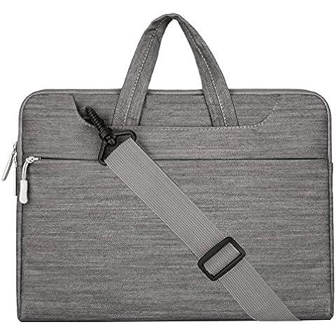 MOSISO - Tela Vaquera Funda Bolso de Bandolera Maletín Bolso Sleeve para 12.9 iPad Pro y 13.3 Pulgadas Ordenador Portátil / Tablet PC / Notebook / MacBook Pro / MacBook Air,