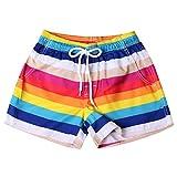 OIKAY Badeshorts Damen hot Pants Shorts für Frauen Schnell trocknendes Strandsurfen Laufen Schwimmen Wassersport(Mehrfarbig12,4XL)