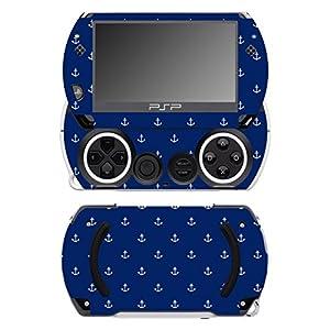Disagu SF-14232_1039 Design Folie für Sony PSP Go – Motiv kleine Anker – dunkelblau transparent