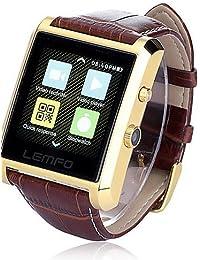lincass DM08Wearables reloj inteligente, IPS llamadas manos libres/control de medios/podómetro/Anti-lost for Android/iOS Smartphone
