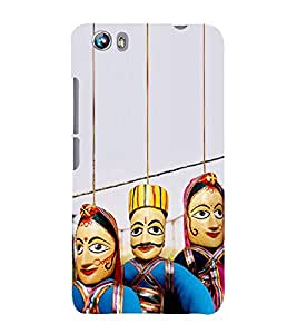 Puppets hanging with Strings 3D Hard Polycarbonate Designer Back Case Cover for Micromax Canvas Fire 4 A107