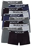 10 farbige Herren Retro Boxershort Pants elastisch mit Elastan & Baumwoll weiche Unterhose Short Boxer Pant Hipster Boxershorts (M-5, Farbset 11)
