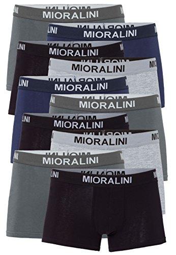 Mioralini 10 colorate in stile retrò da uomo boxer pantaloncini elasticizzati con elastan e cotone morbido hipkini pantaloncini boxer da uomo hipster