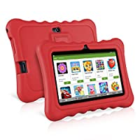 """Ainol Q88 7"""" Display Kids Tablet Android 7.1 RK3126C Quad Core 1GB+16GB WIFI Portable Kid-Proof Shock-Proof Silicone Case Kickstand Available With iWawa For Kids Education Entertainment (Red)"""