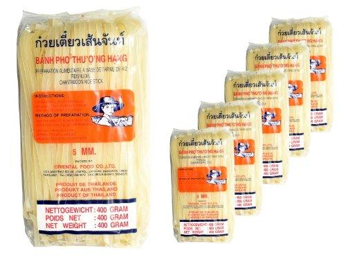 Agricoltore - Tagliatelle Asia 5mm di larghezza - confezione da 5 (5 x 400g) - spaghetti di riso tailandesi