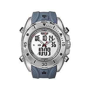 Timex - T5K404 - Montre Homme - Quartz Analogique et digitale - Bracelet Résine Bleu