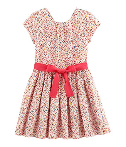 Petit Bateau Mädchen Blanche Kleid, Mehrfarbig (Marshmallow/Multico 01), 104 (Herstellergröße: 4A 4 Jahre) (Für Mädchen Kleid Stiefel)