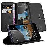 Cadorabo DE-105711 Nokia Lumia 550 Handyhülle mit Kartenfach und Standfunktion Schwarz