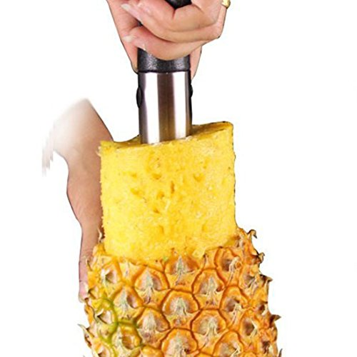 HBOS Stainless Steel Peel And Core Three - in - One Pineapple Peeler.
