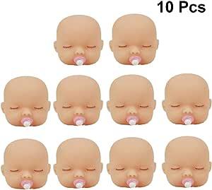 10 Stücke Große Augen Baby Kopf DIY Schlüsselanhänger Puppe Glatze Sculpt