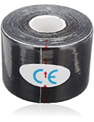 Rollen Rouleau Kinesiologie Tape 5mx5cm Kinesiology Elastique Medical Tape Sport noir