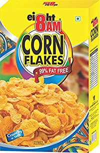 8 AM Corn Flakes 500 gm (Pack of 2)