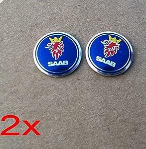 Aufkleber Für Auto Fernbedienung Motiv Saab Blau 14 Mm 2 Stück Auto