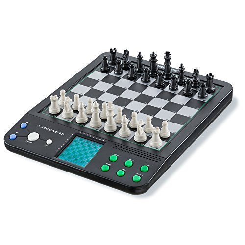 Croove Electronic Chess and Checkers Set with 8-In-1 Board Games, For Kids To Learn and Play by Croove