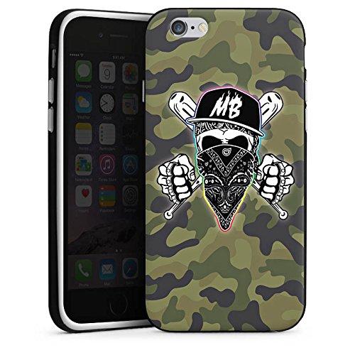 Apple iPhone X Silikon Hülle Case Schutzhülle Montanablack Fanartikel Merchandise MontanaBlack Base Camo Silikon Case schwarz / weiß