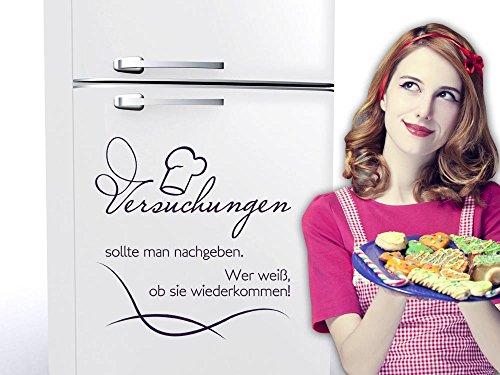 er Wandtattoo Tattoo für Küche Versuchungen Spruch (104x100cm // 823 antique violet) (Rezept Für Die Versuchung)