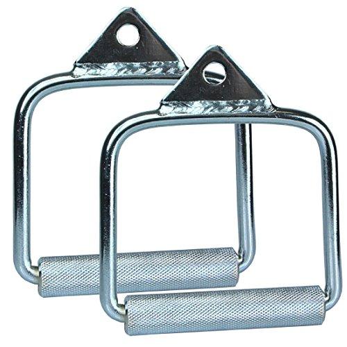 Steely Station Sports Accessoires Fitness [1Paire/Lot de 2] Mitigeur de poignée Traction fermé-Grand/Câble