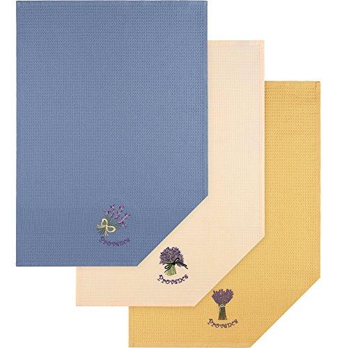 3 Pezzi Asciugatutto 100% Cotone 50 x 70 cm (Set-13003)