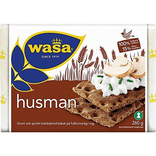 Wasa Husman - Fette Biscottate Segale 260g (Confezione da 6)