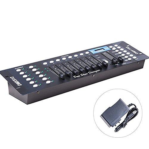AOCNO 192 Kanäle DMX 512 Steuerpult,Lichtsteuerung,DMX Controller,Drahtlos DMX Konsole,DJ Betreiber Equippment für Bühnen Lampe, Geeignet für Moving Head,DJ,Club,Party