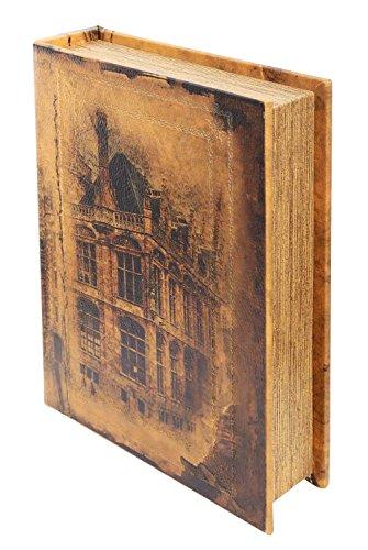 Schatulle 30cm Stadt Buchattrappe Box Schmucketui Buchtresor Buchsafe