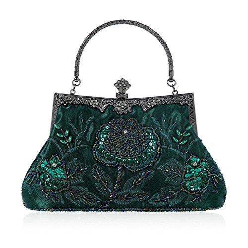 JAGENIE - Cartera de Mano para Mujer Verde Oscuro