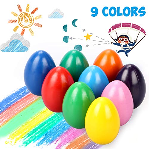 Emooqi Regalo de Pascua Crayones De Huevo, 9 Colores De para...