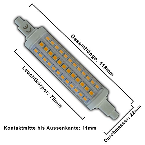 R7s LED 10 Watt dimmbar – warmweiß – 3000K - 2