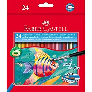 Faber-Castell Water Colour Pencils. Pack of 24