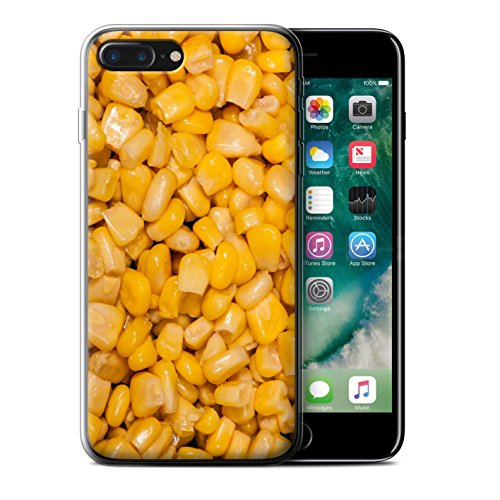 Stuff4 Gel TPU Hülle / Case für Apple iPhone 7 Plus / Schokolade Muster / Lebensmittel Kollektion Mais