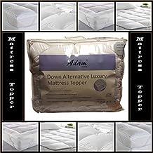 Adam Home - Cubre colchón, 5 cm de profundidad «Microlite», caja de microfibra con costuras, hipoalergénico, cintas elásticas en las esquinas, fibra hueca, T233, doble