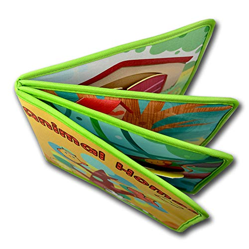NaPuDt Infant Englisch Lesebuch Baby Früh Pädagogisches Tuch Buch Bunte Ungiftig Pädagogisches Spielzeug Tier Buch