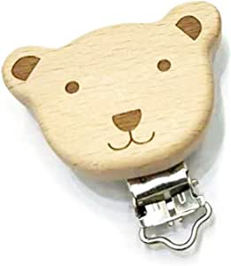 Pince /à Sucette Animale 5 /Étoile Mignon Accessoires de Dentition Infantile BECU 1 Pc Attache-Sucette en Bois Naturel Pince Cr/éative de Bandana de Serviette de Salive