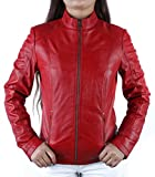 Urban Leather Fashion Lederjacke - Rt01, Rot, Größe 36, Small