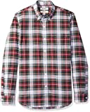Goodthreads Herren Blusen Hemd Slim-fit Long-sleeve Large-scale Tartan Oxford Shirt, Blau (red navy white tartan), XX-Large (Herstellergröße: XX-Large)